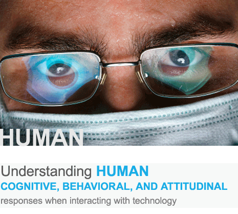 Understanding human cognitive, behavioral, and attitudinal responses when interacting with technology