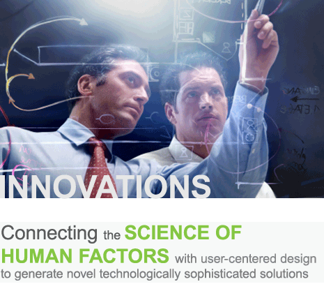 Connecting the science of human factors with user-centered design to generate novel, technologically sophisticated solutions